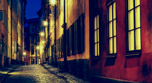 Street Old Town in Stockholm